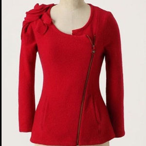 Anthropologie Sleeping on Snow Red Sweater size XS